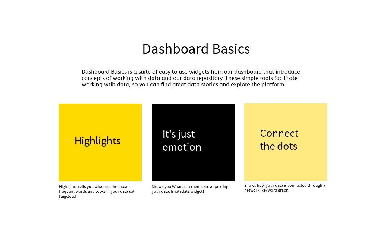 Basic Dashboard Integration with the Platform